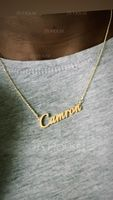 [Free Shipping]Custom 18k Gold Plated Silver Name Necklace (288211285)-Christmas Gifts