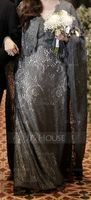 Trumpet/Mermaid V-neck Floor-Length Lace Evening Dress With Beading (271253260)