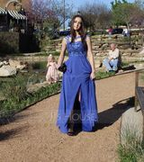 A-Line/Princess Scoop Neck Floor-Length Chiffon Prom Dresses With Beading Sequins Split Front (018138354)