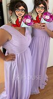 Off-the-Shoulder Floor-Length Chiffon Bridesmaid Dress With Ruffle Split Front Pockets (266221821)