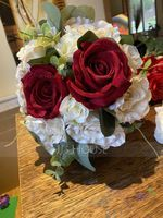 Colorful Free-Form Silk Flower Decorations/Wedding Table Flowers - (123192850)