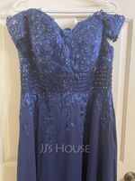 A-Line Off-the-Shoulder Sweep Train Chiffon Lace Mother of the Bride Dress With Beading Sequins (008217330)
