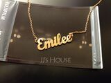Custom 18k Gold Plated Letter Name Necklace - Birthday Gifts (288217710)
