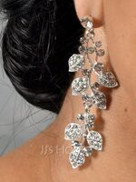 Magnificent Alloy With Rhinestone Ladies' Earrings (011146411)