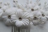 Ladies Gorgeous Silk Flower Combs & Barrettes With Rhinestone (Sold in single piece) (042193006)