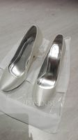 Women's Satin Stiletto Heel Closed Toe Pumps Dyeable Shoes (273210725)