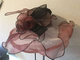 Ladies' Gorgeous Cotton/Net Yarn With Silk Flower Floppy Hat/Kentucky Derby Hats (196118623)