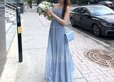 A-Line Sweetheart Floor-Length Chiffon Bridesmaid Dress With Ruffle Split Front (007117361)