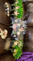 Girly Free-Form Emulational Berries/Silk Flower Bridal Bouquets - (123218519)