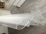 One-tier Ribbon Edge Chapel Bridal Veils With Ribbon (006036786)