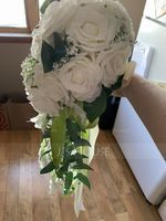 Simple And Elegant Cascade Silk Flower Bridal Bouquets - Bridal Bouquets (123224884)