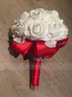 Round Satin Bridal Bouquets (Sold in a single piece) - (123129740)