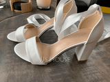 Women's Leatherette Chunky Heel Peep Toe Platform Sandals With Lace-up (047235328)
