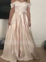 Ball-Gown/Princess Off-the-Shoulder Floor-Length Satin Prom Dresses With Sequins (018192345)