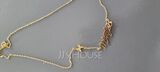 Custom 18k Gold Plated Butterfly Name Necklace With Butterfly - (288251815)