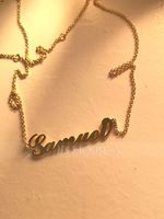 Custom 18k Rose Gold Plated Carrie Name Necklace - Birthday Gifts Mother's Day Gifts (288211301)