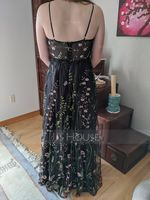 V-neck Floor-Length Lace Prom Dresses With Beading (272235703)