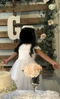 Ball Gown Floor-length Flower Girl Dress - Satin/Tulle Sleeveless Scoop Neck With Beading/Appliques (010092939)