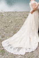 Ball-Gown Sweetheart Cathedral Train Tulle Lace Wedding Dress With Beading Sequins (002111947)