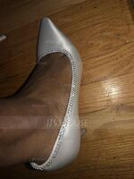 Women's Satin Stiletto Heel Closed Toe Pumps With Rhinestone (047087137)