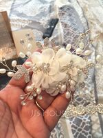 Ladies Elegant Alloy/Imitation Pearls/Voile Combs & Barrettes With Venetian Pearl (Sold in single piece) (042236881)