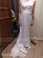 Trumpet/Mermaid Court Train Stretch Crepe Wedding Dress (002118439)