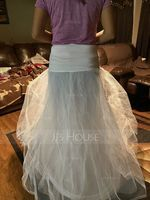 Women Nylon/Tulle Netting Ankle-length 2 Tiers Petticoats (037005373)