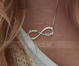 Personalized Ladies' Eternal Love 925 Sterling Silver Name Necklaces Necklaces For Bride/For Bridesmaid/For Mother/For Friends/For Couple (011207097)