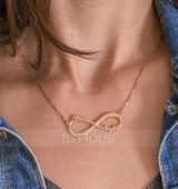 Custom 18k Rose Gold Plated Silver Infinity Two Name Necklace Infinity Name Necklace - Birthday Gifts Mother's Day Gifts (288211232)