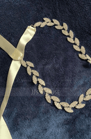 Simple Satin Sash With Rhinestones (015080729)