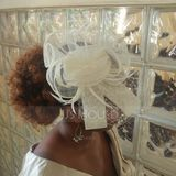 Dames Style Classique Feather/Fil net/Tulle/Lin avec Feather Chapeaux de type fascinator/Kentucky Derby Des Chapeaux/Chapeaux Tea Party (196105138)
