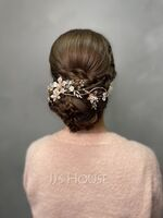 Ladies Special Alloy Headbands With Rhinestone/Venetian Pearl (Sold in single piece) (042165741)