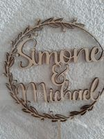 Personalized Bride And Groom Acrylic/Wooden Cake Topper (118251091)