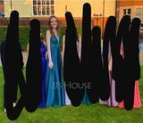 A-Line V-neck Floor-Length Satin Prom Dresses With Beading Sequins (018187229)