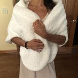 Faux Fur Wedding Shawl (013149894)