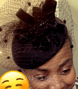 Ladies' Beautiful Wool/Net Yarn Fascinators (196075278)