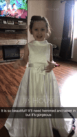 Ball-Gown/Princess Floor-length Flower Girl Dress - Satin/Lace Sleeveless Scoop Neck With Bow(s) (010207211)