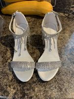 Women's Leatherette Chunky Heel Sandals Beach Wedding Shoes With Rhinestone (047238556)