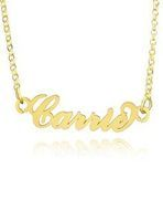 Custom 18k Gold Plated Silver Plate Carrie Name Necklace - Birthday Gifts Mother's Day Gifts (288211210)