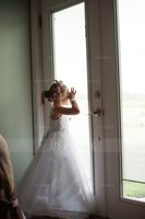 Ball-Gown/Princess Floor-length Flower Girl Dress - Tulle/Lace Sleeveless V-neck With Beading/Bow(s) (010211896)