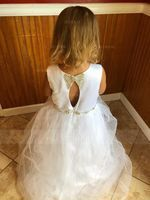 A-Line Ankle-length Flower Girl Dress - Satin/Tulle Sleeveless Scoop Neck With Beading (010143276)
