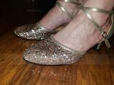 Women's Leatherette Sparkling Glitter Heels Ballroom Dance Shoes (274194948)