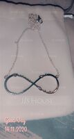 Custom Sterling Silver Infinity Four Name Necklace Infinity Name Necklace - Birthday Gifts Mother's Day Gifts (288211236)