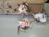 Artificial Silk Flower Sets (set of 2) - Wrist Corsage/Boutonniere (123106363)