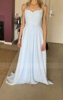 A-Line V-neck Floor-Length Chiffon Bridesmaid Dress With Ruffle (007090204)