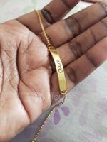 Custom Link & Chain Name Bracelets - Valentines Gifts For Her (106218396)
