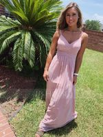 V-Neck Sleeveless Maxi Dresses (293250366)