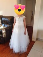 Ball-Gown/Princess Floor-length Flower Girl Dress - Lace Sleeveless Scoop Neck With Lace/Sash (010236811)