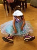 A-Line/Princess Knee-length Flower Girl Dress - Satin Sleeveless Scoop Neck With Flower(s)/Bow(s) (010103709)
