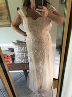 Trumpet/Mermaid Sweetheart Floor-Length Tulle Lace Mother of the Bride Dress (008164065)